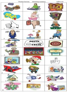 Advertising vocabulary and speaking activities