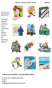 Adjectives-describing-everyday-situations-worksheet