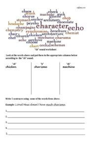 Ch-pronunciation-worksheet