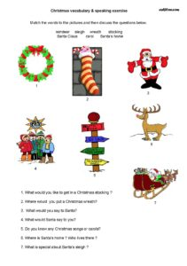 Christmas speaking activity and questionnaire