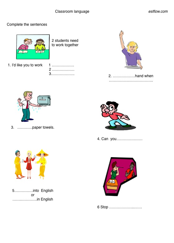 classroom language for students pdf