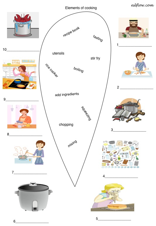 Elements of cooking vocabulary exercise eslflow click here for the elements of cooking worksheet pdf file forumfinder Images