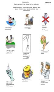 Health sciences giving injections vocabulary exercise