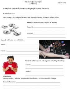 Opinion paragraph writing exercise