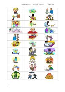 Personality vocabulary and adjectives lesson