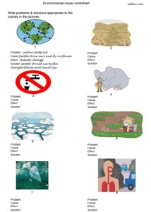 environmental issues lesson worksheet
