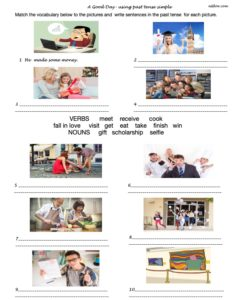 A grammar and past tense activity for ESL students