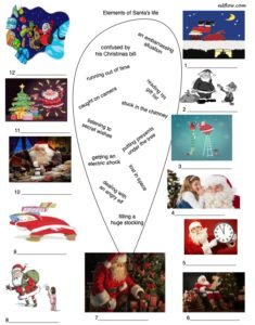 Vocabulary activity and pictures for Santa Claus an Christmas