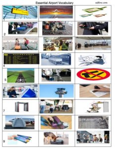 Essential airport vocabulary for airport staff