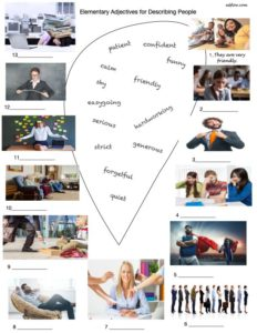 Elementary adjectives for describing people