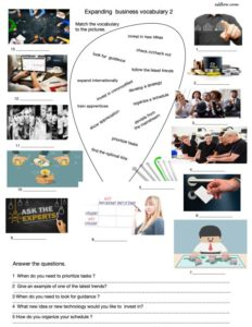 An intermediate expanding business English vocabulary exercise.
